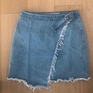 ASOS Light Denim Wrap Skirt